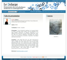 Le Delarge <br>Le Dictionnaire des Arts Contemporains<br>More info</b>